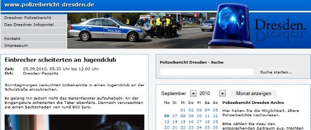 Polizeibericht Dresden