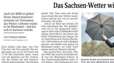 """Artikelausschnitt """"Sächsische Zeitung"""" vom 19.09."""