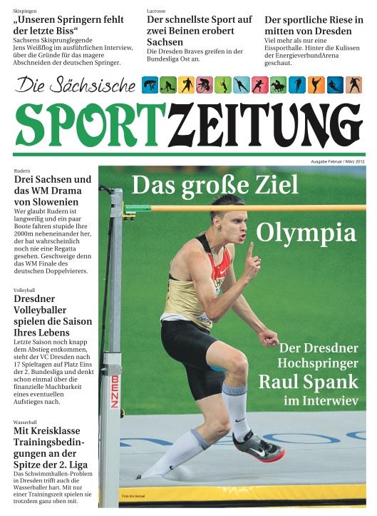 """Titelbild der """"Sächsischen Sportzeitung""""."""