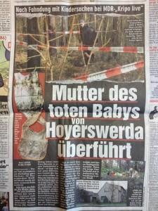 """Ausriss aus """"BILD"""" vom 21.4.2012, Seite 8."""