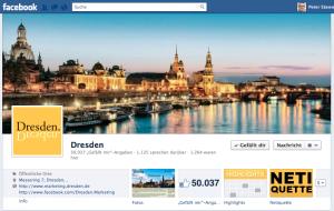 Screenshot von der Facebook-Fanpage Dresdens.