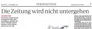 """Schlagzeile in der """"Sächsischen Zeitung"""" vom 4.12.2012, S. 5"""