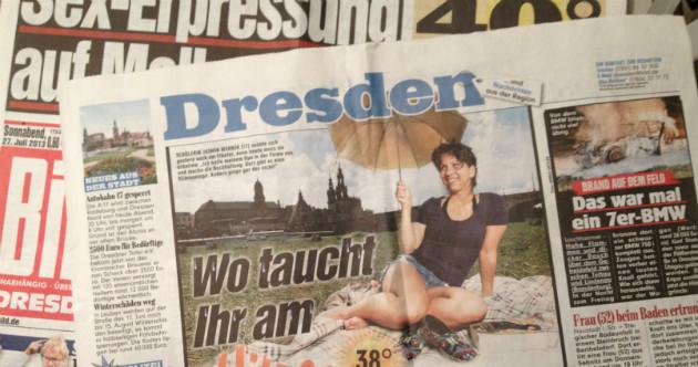 """Wird demnächst in Leipzig erstellt: der Dresdner Lokal-Teil der """"BILD"""""""
