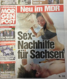 """Titel der """"Mopo Dresden"""" vom 23.10.2013"""