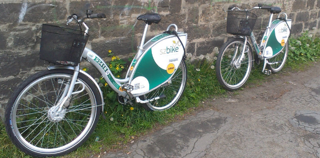 Seid Ostern überall in der Stadt zu sehen: SZ-Bikes. Foto: Caroline Vogt