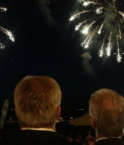 """Prominente Hinterköpfe beim """"DNN""""-Sommerfest 2013, Foto: owy"""
