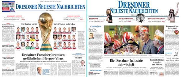 """DNN"": Links die alte, rechts die neue Titeloptik."