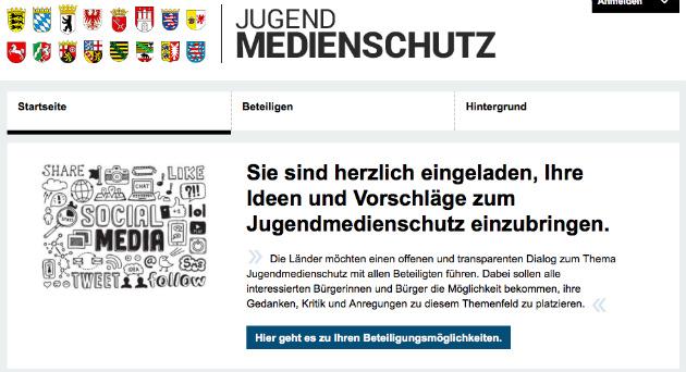 Screenshot von jugendmedienschutz.sachsen.de