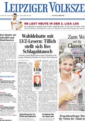 "Ausriss aus dem ""LVZ""-Cover vom 2.8.2014"