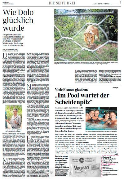 """""""Sächsische Zeitung"""", Seite 3, 4.8.2014"""