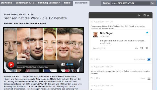 Screenshot der MDR-Seite zur Sendung.