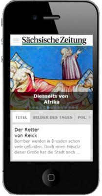 Screenshot der SZ-App aus dem Apple-Store.