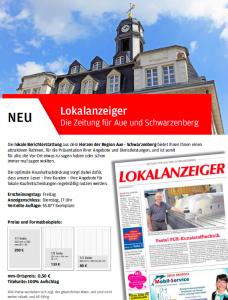 """Werbung für den """"Lokalanzeiger""""."""