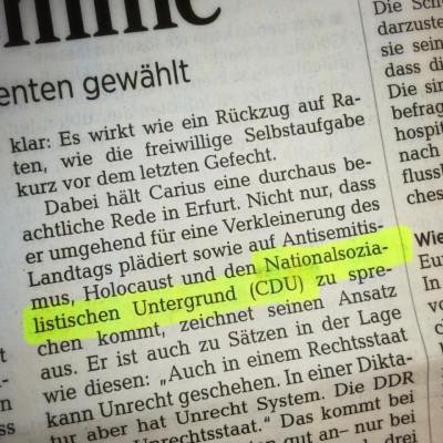 """Ausriss aus den """"Dresdner Neueste Nachrichten"""" (""""DNN"""") vom 15.10.2014, Seite 5."""