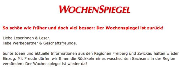 Screenshot von Wochenspiegel-sachsen.de (Stand: 26.10.2014).