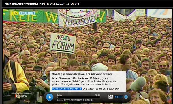 Screenshot von mdr.de.