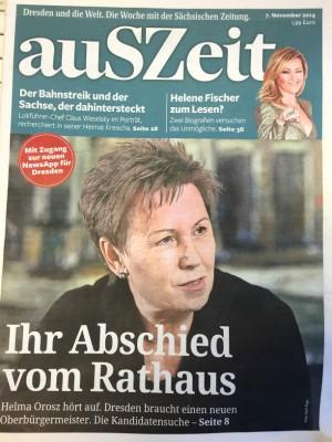 """""""auSZeit"""" - die Wochenzeitung der """"Sächsischen Zeitung"""", Ausgabe 1, 7.11.2014"""