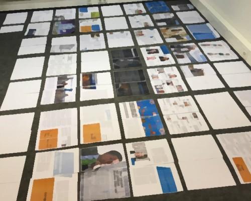 Ein paar weiße Flecken sind noch... aber die ersten Seiten sind schon gesetzt. Zu sehen sind übrigens alle 100 Seiten des Magazins - das Foto ist aber bewusst unscharf gehalten!