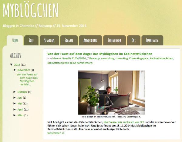 Screenshot von mybloegchen.de