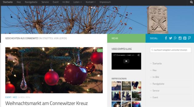 Screenshot von Connewitzer Geschichten.