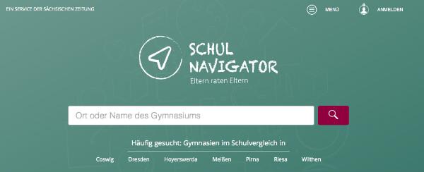 Screenshot von schulnavigator.de.