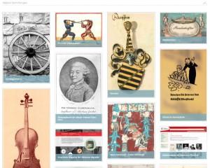 Screenshot von der Startseite der Digitalen Sammlungen der SLUB. Das Bild ist verlinkt.