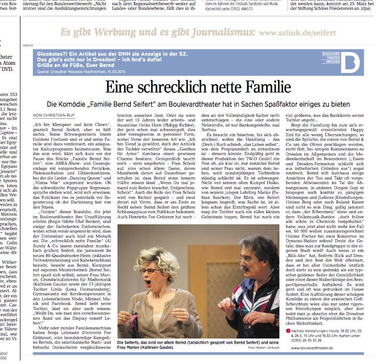 """Die Anzeige, wie sie in der """"Sächsischen Zeitung"""" vom 21.3.2015 zu finden war."""