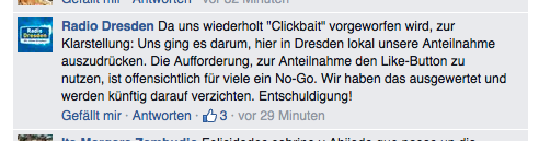 Screenshot: Facebook-Fanpage Radio Dresden