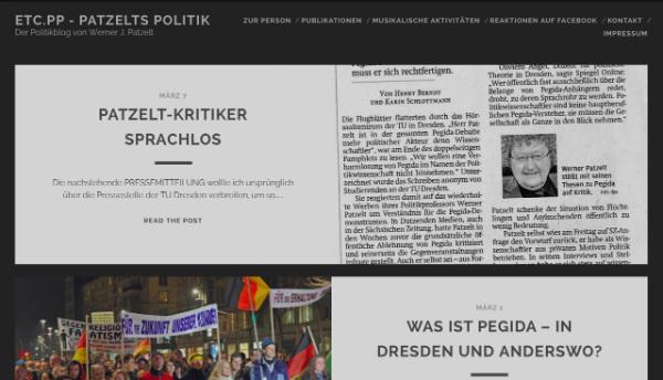 Screenshot von etc.pp - dem Blog von Prof. Patzelt.