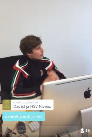 """HSV-Niveau - beim redaktionsinternen Fußballquiz (Screenshot) versagte die """"11 Freunde""""-Redaktion."""