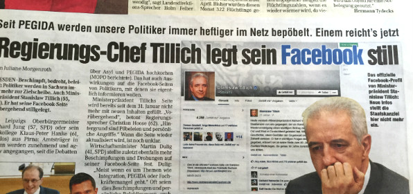 "Ausriss des ""Mopo""-Berichts vom 9.4.2015"