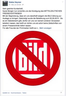 Screenshot von der Facebook-Seite des Chemnitzer Edeka-Marktes.