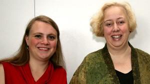 Der neue Vorstand des Journalistinnenbundes: Rebecca Beerheide und Sonya Winterberg. Foto: Eva Hehemann