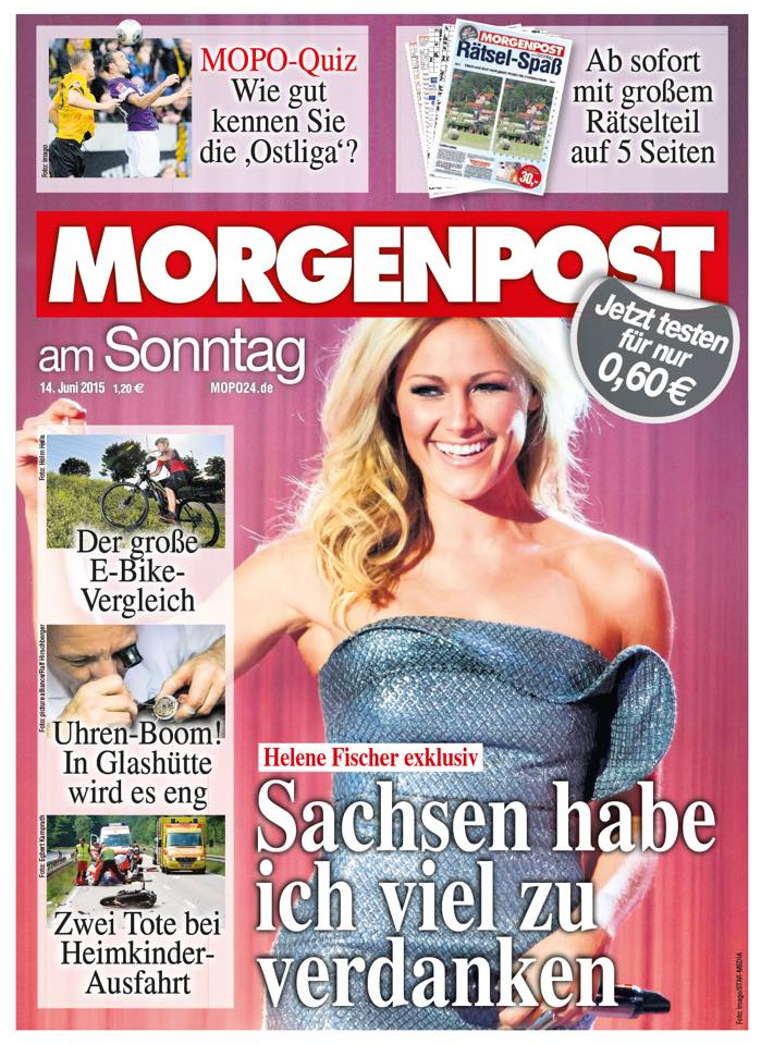 "Cover der ""Morgenpost am Sonntag"""