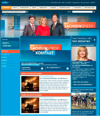 Screenshot der neuen Seite des Sachsenspiegel.