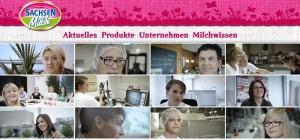 Screenshot Sachsenmilch-Startseite