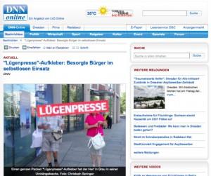 Screenshot von DNN-Online.de