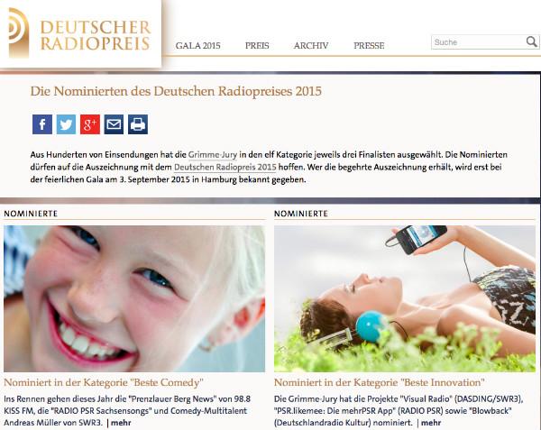 deutscher radiopreis 2015 5 nominierungen f r sachsen. Black Bedroom Furniture Sets. Home Design Ideas