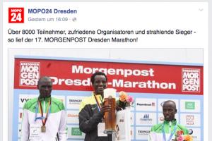 Screenshot Facebookpage Mopo24 Dresden