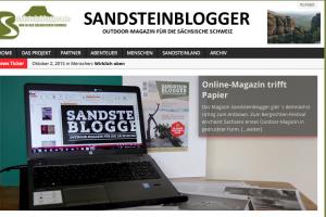"""Screenshot """"sandsteinblogger.de"""""""