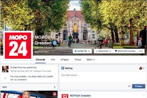 Mopo 24 Dresden, Screenshot von der Facebook-Fanpage