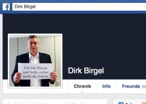 Profilfoto bei Facebook von Dirk Birgel