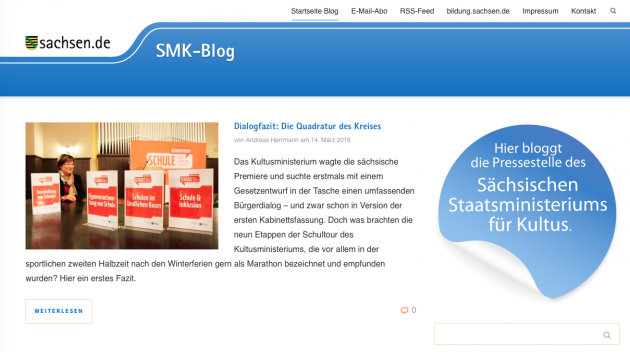 Screenshot vom SMK-Blog