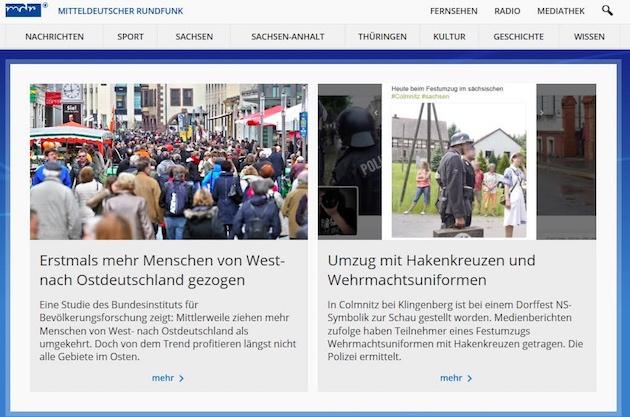 Screenshot von mdr.de vom 30.5.2016