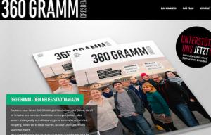 Startseite www.360gramm.de