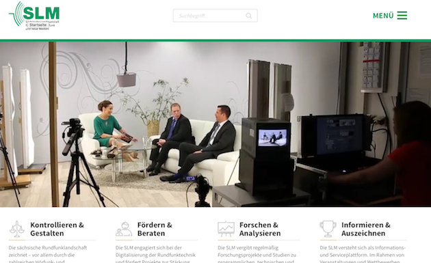 Die neue Startseite von slm-online.de