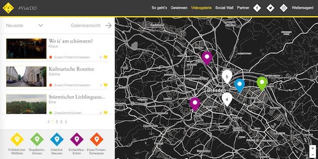 Screnshot von #visitdd.de