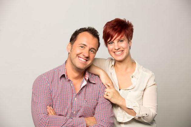 Silvio Zschage und Elena Pelzer: das neue MDR 1 Radio Sachsen Morgenteam Foto: Foto: MDR / Martin Jehnichen