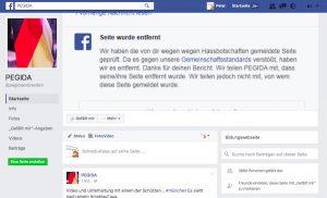"""Screenshot der """"neuen"""" Pegida-Seite mit bereits 3.884 Fans (Stand: 23.7.2016, 1.30 Uhr)"""