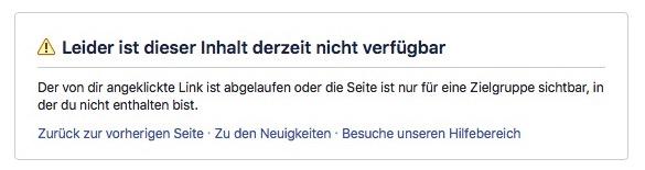 Facebook Profil Inhalt Nicht Verfügbar